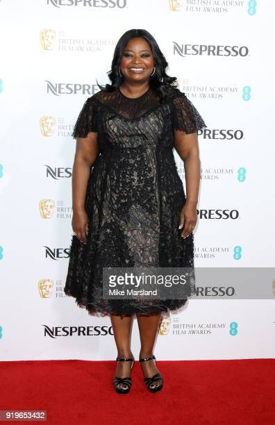Octavia Spencer attends the EE British Academy Film Awards nominees party at Kensington Palace on February 17 2018 in London England