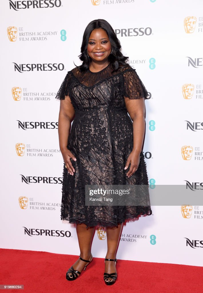 Octavia Spencer attends the EE British Academy Film Awards (BAFTA) Nominees Party at Kensington Palace on February 17, 2018 in London, England.