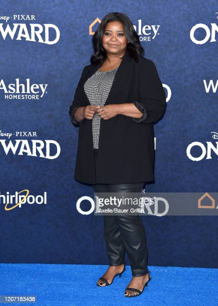 """Octavia Spencer attends the premiere of Disney and Pixar's """"Onward"""" on February 18, 2020 in Hollywood, California."""