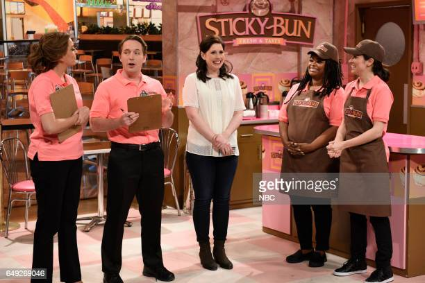 LIVE Octavia Spencer Episode 1719 Pictured Cecily Strong Beck Bennett Vanessa Bayer Octavia Spencer and Melissa Villaseñor during the Sticky Bun...