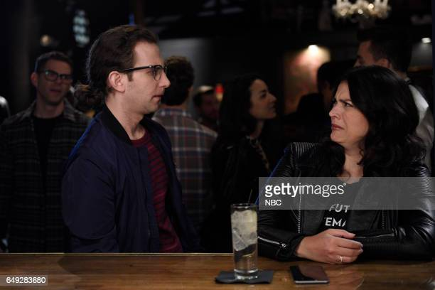 LIVE Octavia Spencer Episode 1719 Pictured Kyle Mooney and Cecily Strong during the Girl At A Bar segment on March 3 2017