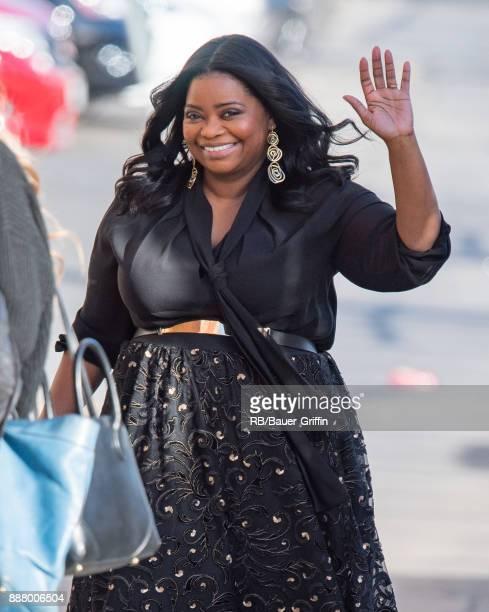 Octavia Spencer is seen at 'Jimmy Kimmel Live' on December 07 2017 in Los Angeles California