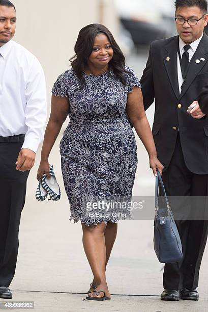 Octavia Spencer is seen at 'Jimmy Kimmel Live' on March 11 2015 in Los Angeles California