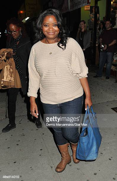 Octavia Spencer is seen on April 10 2015 in New York City