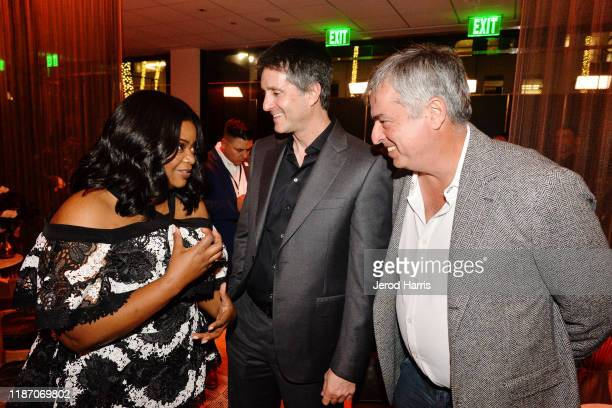 Octavia Spencer Jamie Erlicht and Eddy Cue attend the after party of Apple TV's 'Truth Be Told' on November 11 2019 in Beverly Hills California