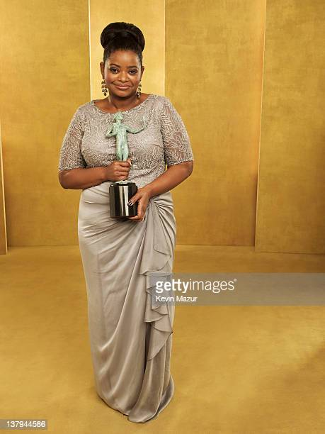 Octavia Spencer poses during The 18th Annual Screen Actors Guild Awards broadcast on TNT/TBS at The Shrine Auditorium on January 29, 2012 in Los...