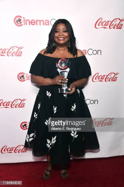 Octavia Spencer, recipient of the CinemaCon Spotlight award, attends The CinemaCon Big Screen Achievement Awards Brought to you by The Coca-Cola...