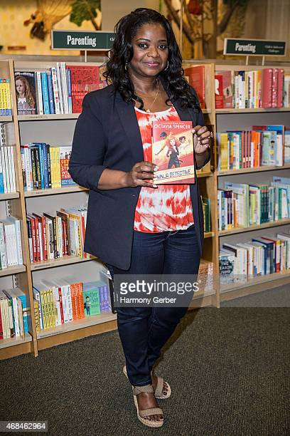 Octavia Spencer signs and discusses her new book 'The Sweetest Heist in History' at Barnes Noble bookstore at The Grove on April 2 2015 in Los...