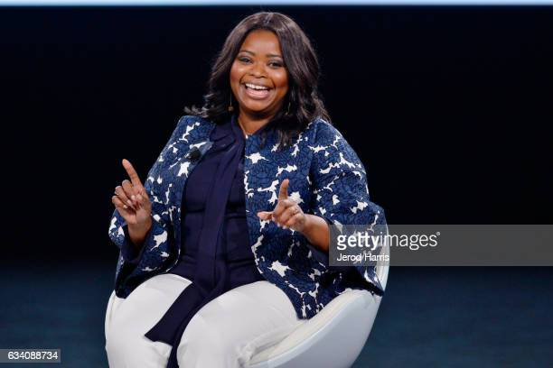 Octavia Spencer speaks on stage at The 2017 MAKERS Conference at Terranea Resort and Spa on February 6 2017 in Rancho Palos Verdes California