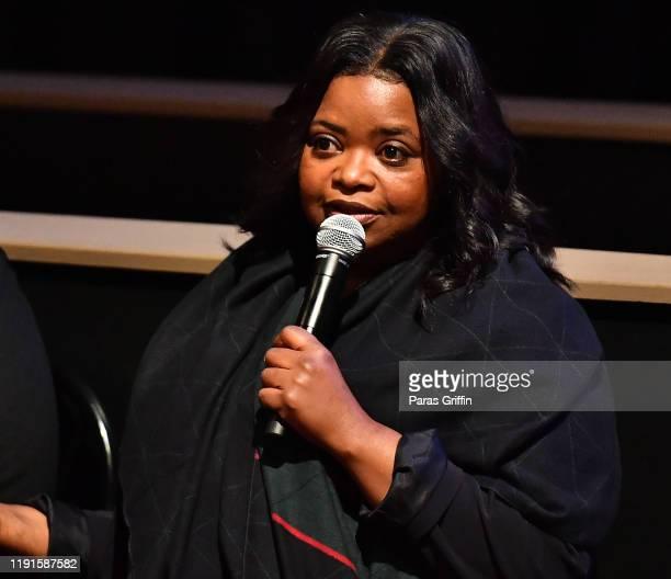 Octavia Spencer speaks onstage during Apple TV's Truth Be Told Atlanta screening at AMC Parkway Pointe on December 02 2019 in Atlanta Georgia