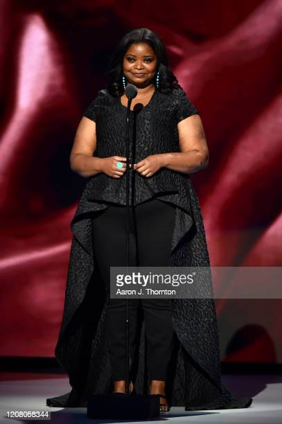 Octavia Spencer speaks onstage during the 51st NAACP Image Awards, Presented by BET, at Pasadena Civic Auditorium on February 22, 2020 in Pasadena,...