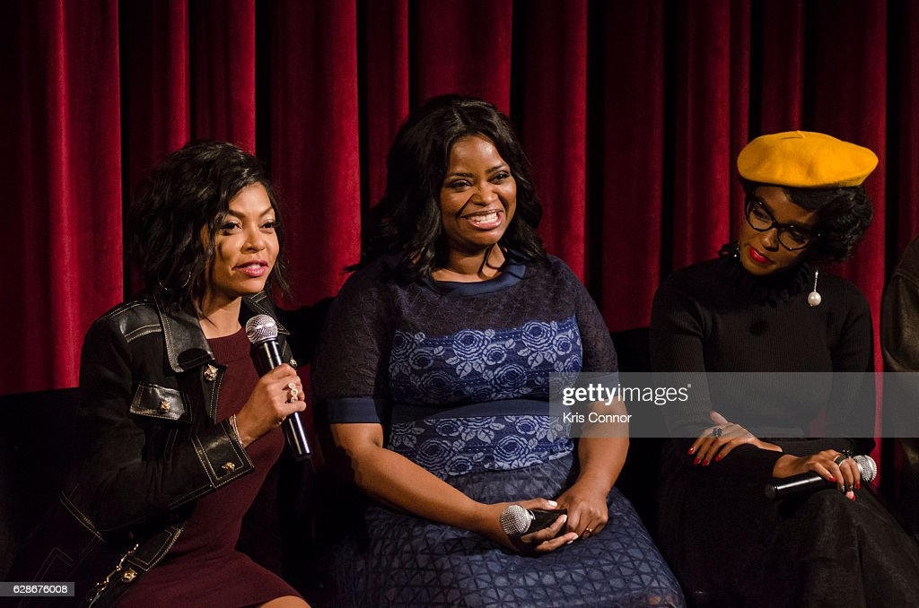 Octavia Spencer, Taraji P. Henson, and Janelle Monae attend an official academy screening of HIDDEN FIGURES hosted by the The Academy of Motion Picture Arts and Sciences at MOMA - Celeste Bartos Theater on December 8, 2016 in New York City.
