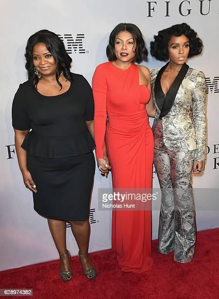 "Octavia Spencer, Taraji P. Henson and Janelle Monae attends the ""Hidden Figures"" New York Special Screening on December 10, 2016 in New York City."