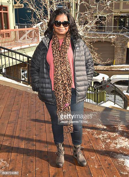 Octavia Spencer wearing Sorel around Park City on January 25 2016 in Park City Utah