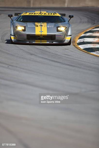 Robertson Racing Doran Design Ford GT during qualifying for the 13th annual Petit Le Mans at Road Atlanta in Braselton, Georgia.