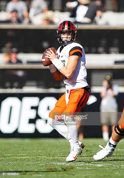 Oregon State Beavers Quarterback, Conor Blount during a Pac-12 conference match-up between the Colorado Buffaloes and the visiting Oregon State...