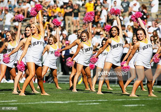 The Colorado dance team performs during a Pac-12 conference match-up between the Colorado Buffaloes and the visiting Oregon State Beavers at Folsom...