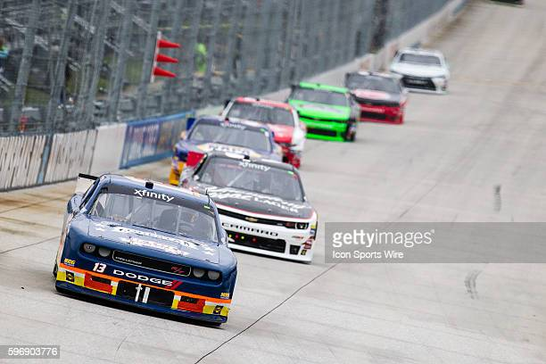 NASCAR XFINITY Series driver Josh Reaume driver of the Braille Battery/Grafoid Chevy during the NASCAR XFINITY Series Hisense 200 at Dover...