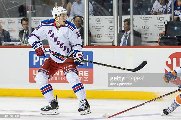 New York Rangers Defenseman Brady Skjei on ice during a preseason NHL game between the New York Rangers and the New York Islanders at Barclays Center...