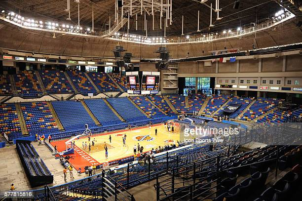 General view of the Crown Coliseum prior to a game between the Oklahoma City Thunder and the Charlotte Bobcats in Fayetteville, North Carolina.