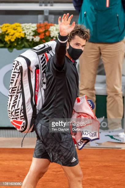 October 06 Dominic Thiem of Austria leaves the court after his loss against Diego Schwartzman of Argentina in the Quarter Finals of the Men's Singles...