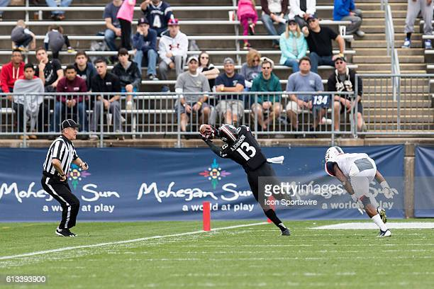 Cincinnati Wide Receiver Avery Johnson gets called for offensive pass interference during the second half of a NCAA football game between AAC rivals...
