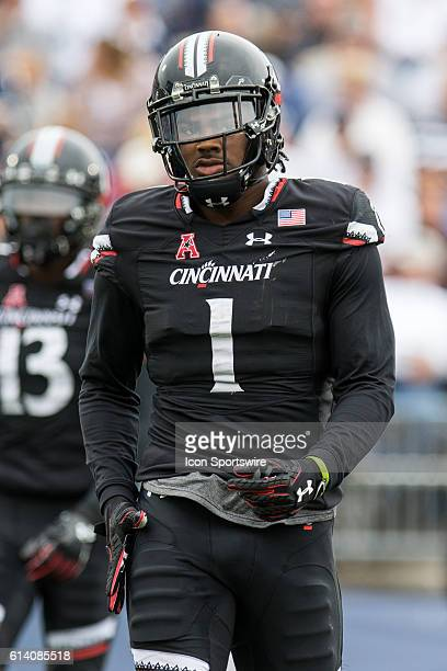 Cincinnati Wide Receiver Kahlil Lewis on the field during the second half of a NCAA football game between AAC rivals the Cincinnati Bearcats and the...