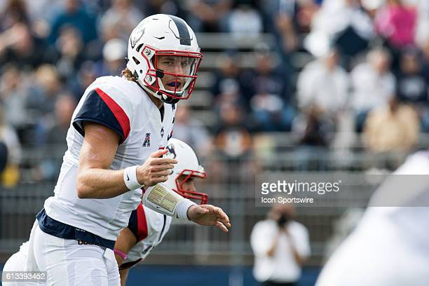 UConn Quarterback Bryant Shirreffs during the first half of a NCAA football game between AAC rivals the Cincinnati Bearcats and the UConn Huskies at...