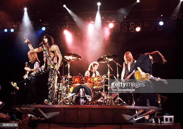 VIEW CA October 08 Aerosmith performing at Shoreline Amphitheater Event held on October 8 1994 in Mountain View California