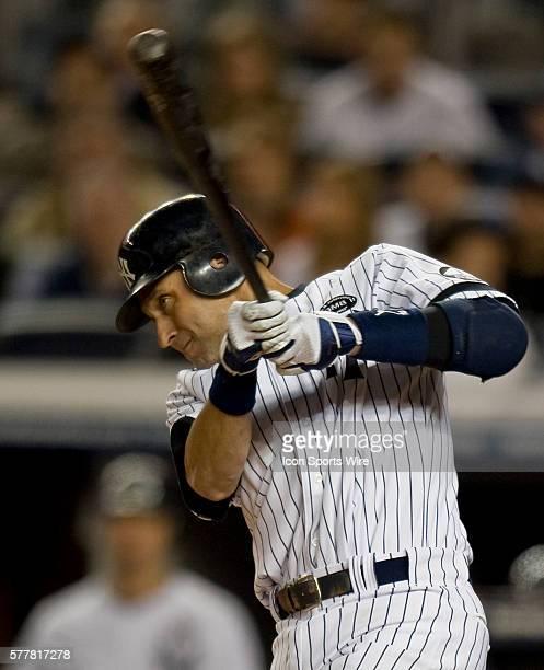 NY Yankees Vs Minnesota Twins Game 3 ALDS Yankees Derek Jeter singles in the first inning
