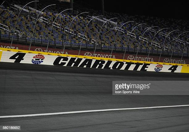 Turn four during the Xfinity Series Drive For a Cure 300 at Charlotte Motor Speedway in ConcordNC