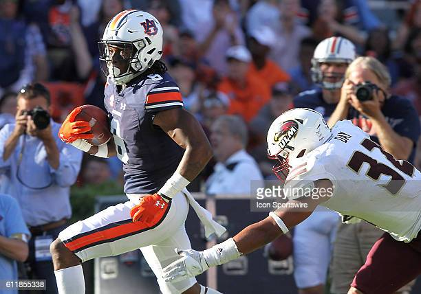 Auburn Tigers wide receiver Tony Stevens catches a pass during an NCAA football game between the Auburn Tigers and the LouisianaMonroe Warhawks at...