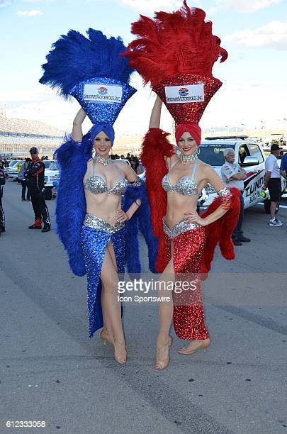 No event in Las Vegas would be complete without show girls at the NASCAR Camping World Series DC Solar 350_Las Vegas Motor Speedway Las Vegas NV