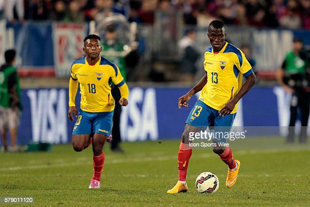Ecuador's Enner Valencia brings the ball up as Ecuador's Jonathan Gonzalez makes an overlapping run The Men's National Team of the United States and...