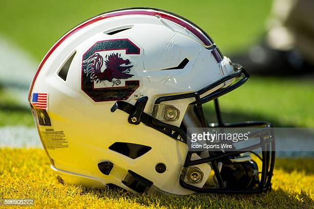 South Carolina Gamecocks helmet during the game between the South Carolina Gamecocks and the LSU Tigers at Tiger Stadium in Baton Rouge LA