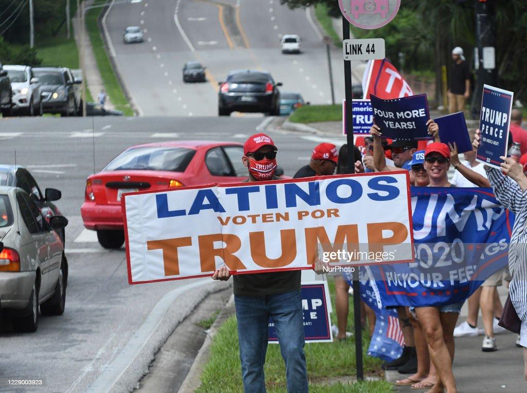 Mike Pence Rallies Latinos For Trump In Orlando, Florida : News Photo