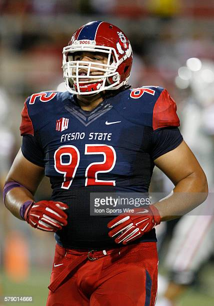 Fresno State defensive lineman tyeler Davison during a game against UNLV at Sam Boyd Stadium in Las Vegas Nevada The UNLV Rebels would defeat the...