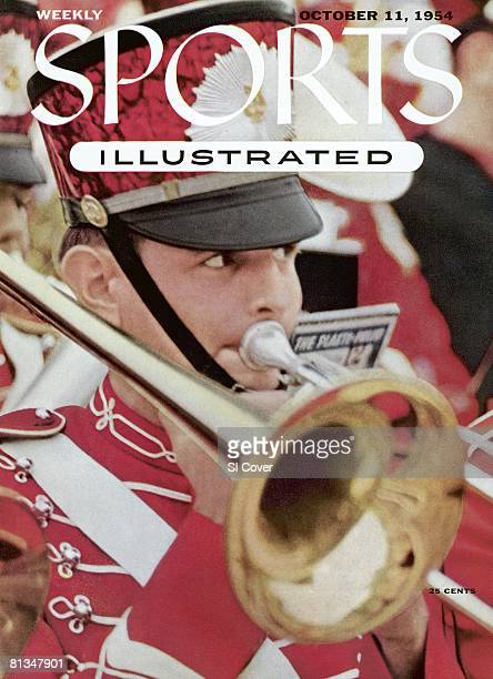 October 11 1954 Sports Illustrated Cover College Football Closeup of Oklahoma marching band USA 1/1/1954