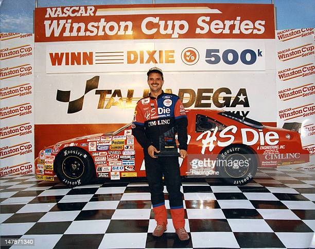 Tim Steele in victory lane at Talladega Superspeedway after winning the Winn Dixie 500K ARCA Series race