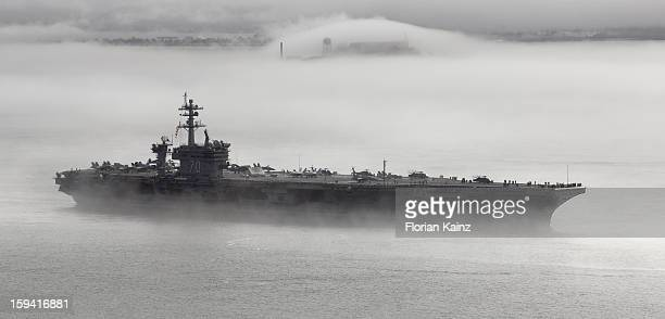 CONTENT] October 11 2011 the aircraft carrier USS Carl Vinson leaves the San Francisco Bay on a foggy morning a couple of days after Fleet Week 2011...