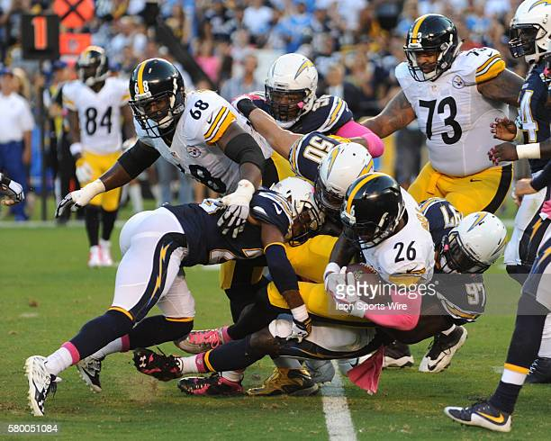 October 12 2015 San Diego Chargers Linebacker Manti Te'o [18937] San Diego Chargers Cornerback Patrick Robinson [9020] and San Diego Chargers...
