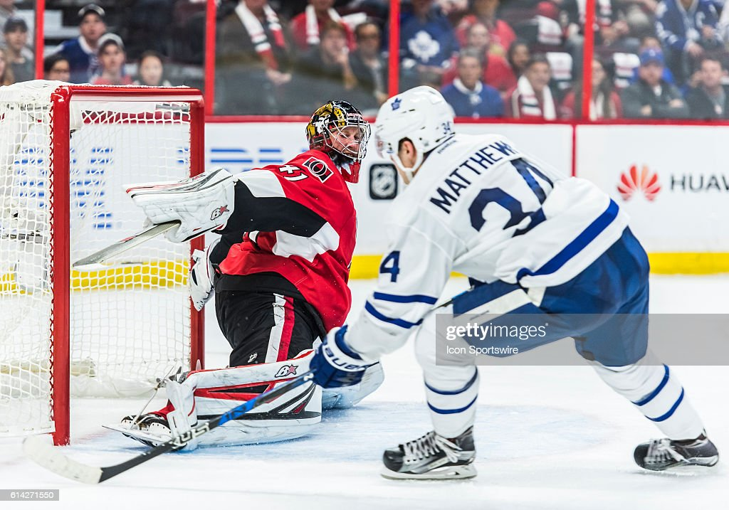 NHL: OCT 12 Maple Leafs at Senators : News Photo