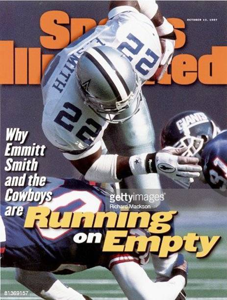 October 13 1997 Sports Illustrated Cover Football Dallas Cowboys Emmitt Smith in action vs New York Giants East Rutherford NJ 10/5/1997