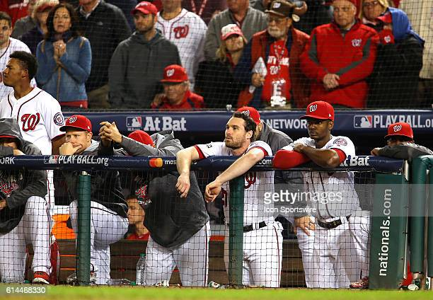 Nationals players dejected at the end of game 5 of the NLDS at Nationals Park in Washington DC The Los Angeles Dodgers defeated the Washington...
