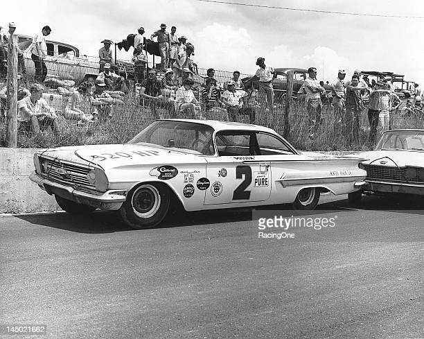 """Driving this Chevrolet for car owner Tom Daniels Lewis """"Possum"""" Jones of Mango FL finished second in the NASCAR Cup race at AshevilleWeaverville..."""