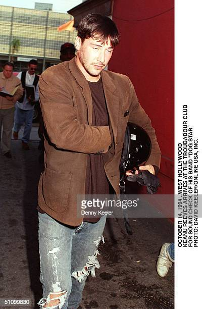 October 14 1994 West Hollywood Ca Keanu Reeves Arrives For Sound Check At The Troubador For His Band Dog Star
