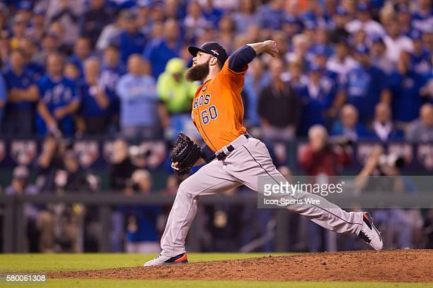 Houston Astros starting pitcher Dallas Keuchel during the ALDS series game between the Houston Astros and the Kansas City Royals at Kauffman Stadium...