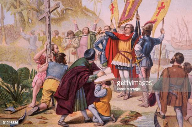 October 1492 Christopher Columbus After a 36 day voyage from Palos Spain across the Atlantic Ocean land was sighted in the New World at 2 AM on 12...