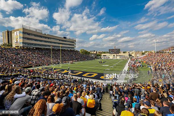 A general view of Glass Bowl Stadium during game action between the Bowling Green Falcons and the Toledo Rockets played at Glass Bowl Stadium in...