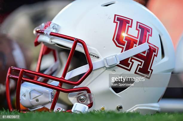 Houston Cougars helmet during the Tulsa Golden Hurricanes at Houston Cougars game at TDECU Stadium Houston Texas